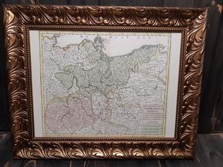1740 Карта Верхней Саксонии и Померании