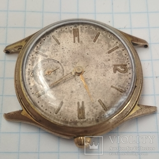 Часы GUB 60 годов позолота Германия