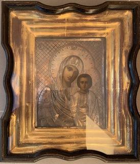 Казанская икона Божией Матери, серебро 84