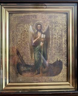 Икона Иоанн Предтеча Ангел пустыни ХІХ век