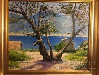 Масло холст 55/65см острова Эгейского моря
