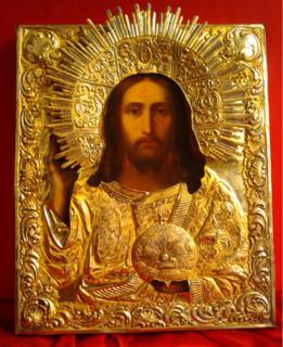 Подносная икона Господъ Вседержитель 1841 г.