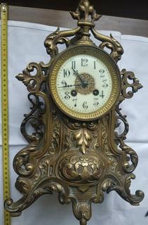 Великий камінний бронзовий годинник 19 ст.