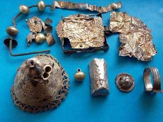 Серебро в позолоте на реставрацыю