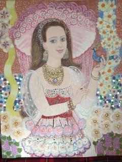 Майя Зарецкая «Портрет в рожевому»