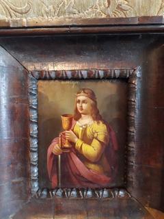 Св.Варвара старая католическая икона