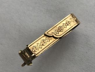Золотая брошь Хлебников 56 пробы