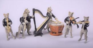 Оркестр котята 6 шт., бронза, Австрия.