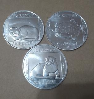 200 форинтов серебро Выдра Кот Черепаха 1985