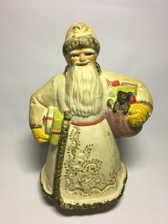 Дед Мороз с подарками. Папье-маше