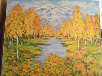 Мария Лизогуб « Осень» , Казахстан.