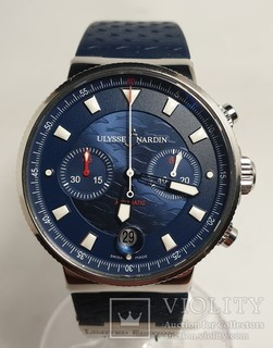 Ulysse Nardin Maxi Marine Chronograph Blue Seal Limited Edition 353-68