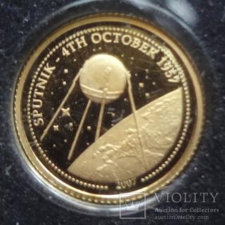 500 тугриков 2007 Монголия золото 999 Спутник