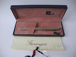 Ручка Delta серебро 925 пр , перо золото 18K ( Италия )