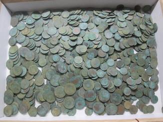 Монеты медные. Более 1000 штук.
