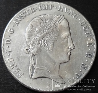 Талер 1840 год, Фердинанд І, Австрия, серебро