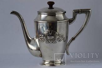 Серебряный чайник 875 пробы