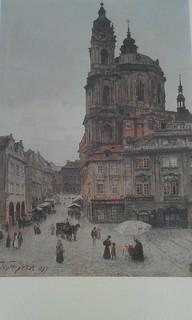 Древняя Прага в акварелях Вацлава Янсы_12-листов                     (Фоторепродукцыя)