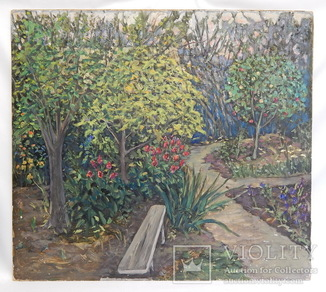 Пейзаж. Сад. Картина маслом. Размер 61 х 67,5 см.