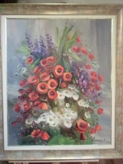 Полевые цветы Нар.худ.укр. СВАЛЯВЧИК В. х.м.85х70см