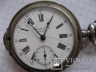 Часы Perret & Fils BRENETS конец 19 века на ходу серебро