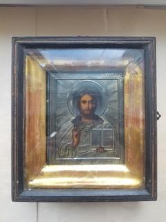 Икона Господь Вседержитель. Серебро 84.