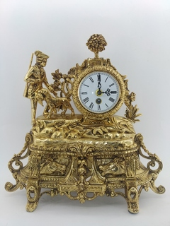 """Механічний камінний годинник """"Мисливець"""" арт. 09"""