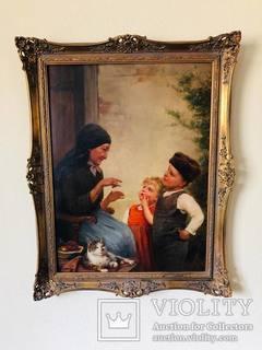 """Картина """"Семья"""", худ. Пауль Вагнер"""