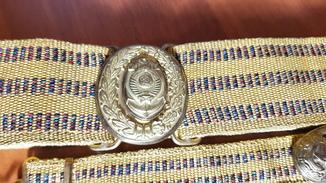 Парадный пояс адмиралов шитый золотой нитью, якорь+герб(15 лент) шитый золотой нитью