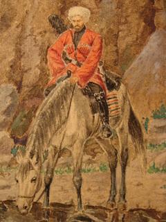Черкес на коне Кавказ