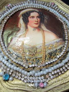 Портретная миниатюра Тереза Саксен-Гильдбургхаузенская, королева Баварии (1792-1854)
