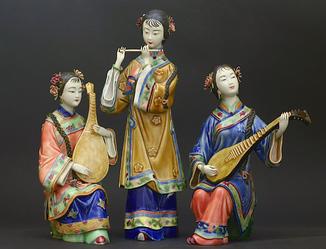Музыканты. Китайская фарфоровая статуэтка. Китай