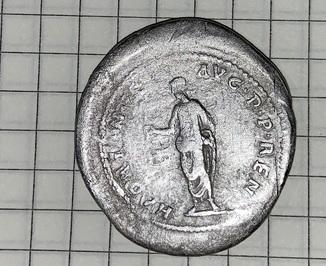 серебряная монета Кистофор Адриан