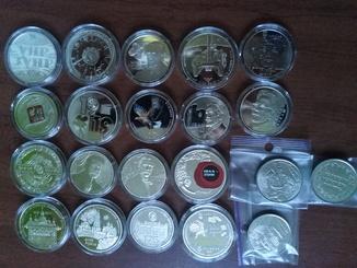 Полный годовой набор памятных монет 2019г. - 21шт.