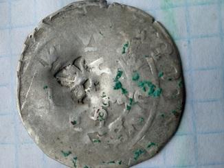 Пражский грош с надчеканом №3