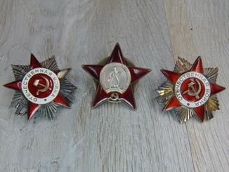 Ордена боевые ОВ 2 ст №469943 КЗ №1285528 ОВ 1 ст №2300224