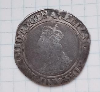 Шиллинг Елизавета 1601 год