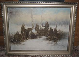 Легионеры у костра Йиндра Влчек Чехословакия 1920-30-е