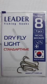 Крючки Leader Dry Fly Light #8 (№808).