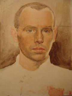 Молодой человек Портрет с красным пятном