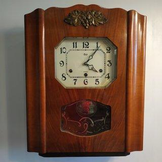 Янтарь ОЧЗ настенные часы с четвертным боем исправные