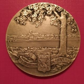 Настольная медаль - NEVERS Caisse d'Epargne серебро
