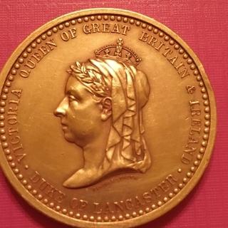 Медаль настольная Великобритания Виктория.1887г.Юбилейная
