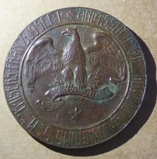 Настольная медаль Австро-Венгрия