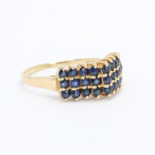 Винтажное золотое кольцо с натуральными сапфирами
