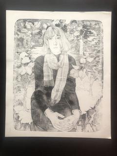 """Генриетта Левицкая, графика """"Портрет К. Суеваловой"""""""