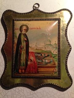 Миниатюрная икона « Св. Преп. Сергий Радонежский чудотворец»