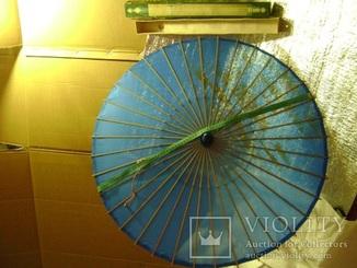 Китайский зонт  бамбук шёлк 49 год родной коробке
