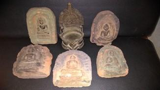 Цаца Будда 5 барельефов и Бронзовый трон.