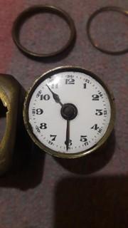 Німецький кишеньковий годинник-будильник 40-х р